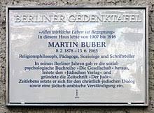 Enthüllung der Buber-Gedenktafel